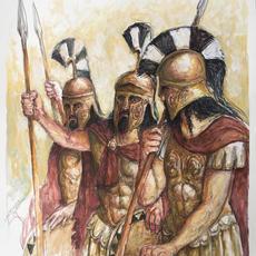 Spartanische Hopliten