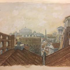 Blick über die Dächer Roms