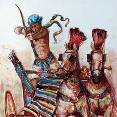 Pharao in der Schlacht