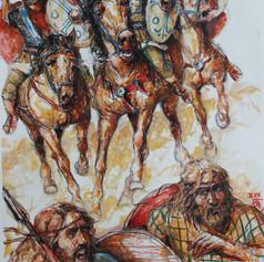 Römische Reiter im Einsatz