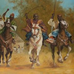 Reiterspiele in Kamerun