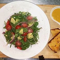 Avocado and Tomato Salad With Cornbread