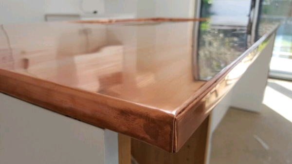 Copper island worktop