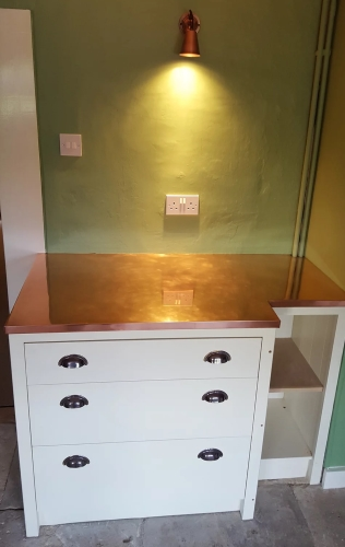 Copper worktop