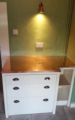 Copper worktop