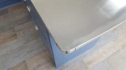 Rounded edge Zinc worktop