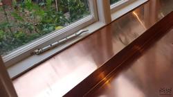 Copper windowsill