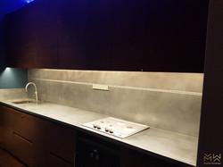 Zinc worktop & matching splashback