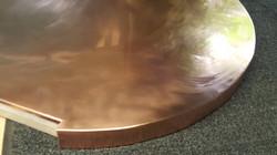 Round copper worktop