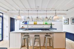 Industrial kitchen withzinc worktops