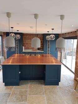 Copper kitchen island