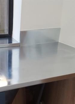 Zinc worktop with upstand