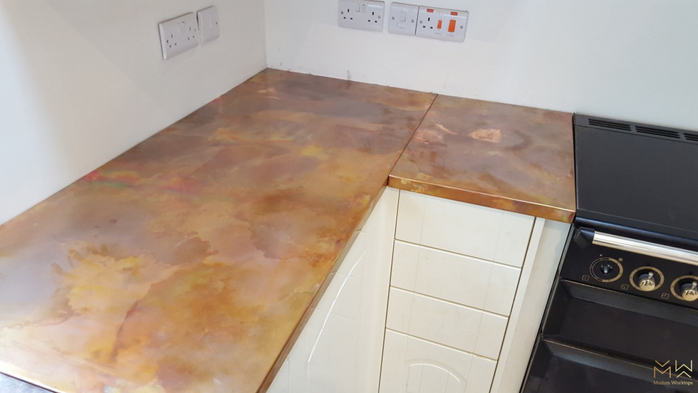 Burned finish on Copper