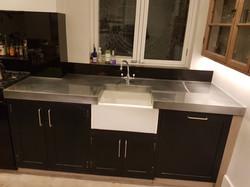Custom made zinc worktop