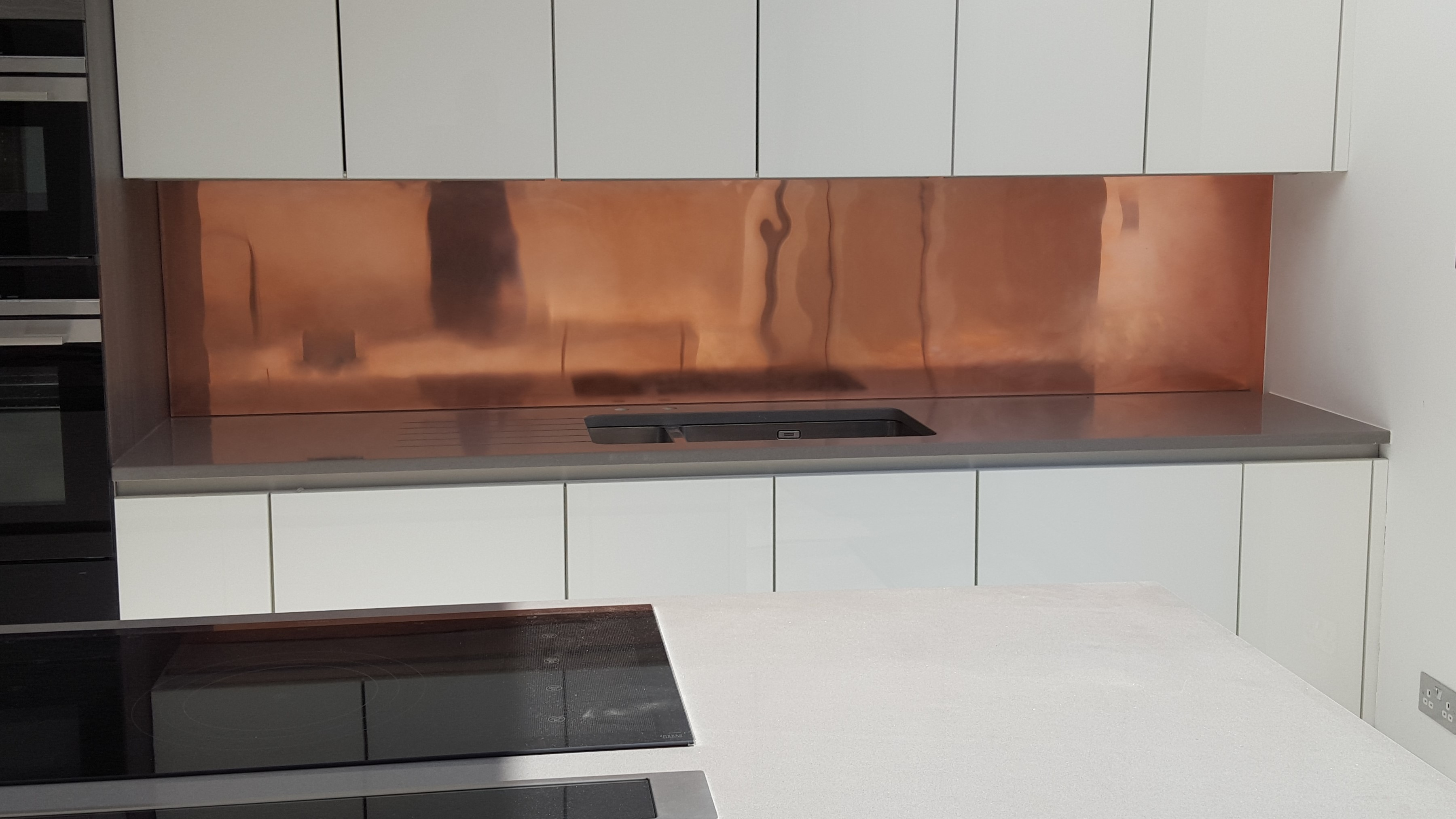 Three meter copper splashback