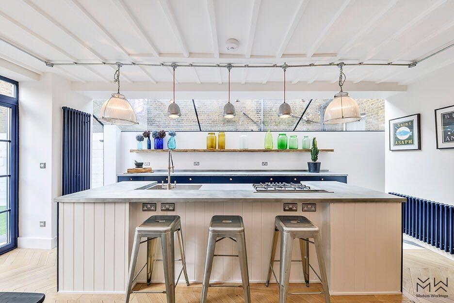 Industrial zinc kitchen