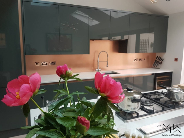 Beautiful Copper splashback