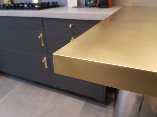 Brass breakfast bar
