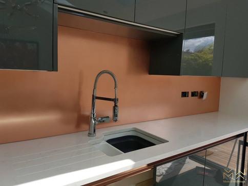 Copper splashback