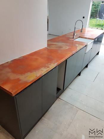 Burned Copper finish