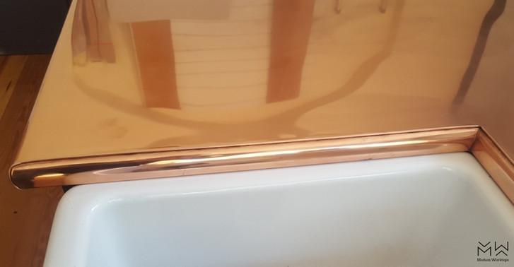 Folded Natural Copper