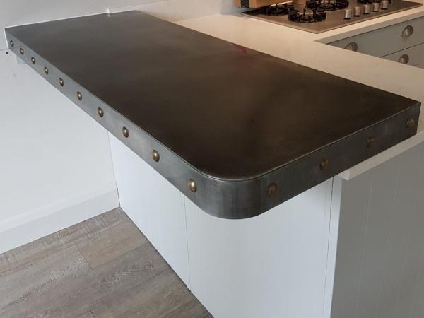 Aged Zinc countertop