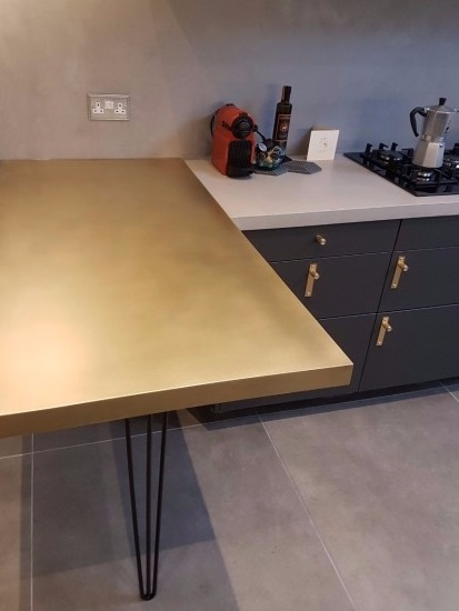 Brass counter-top