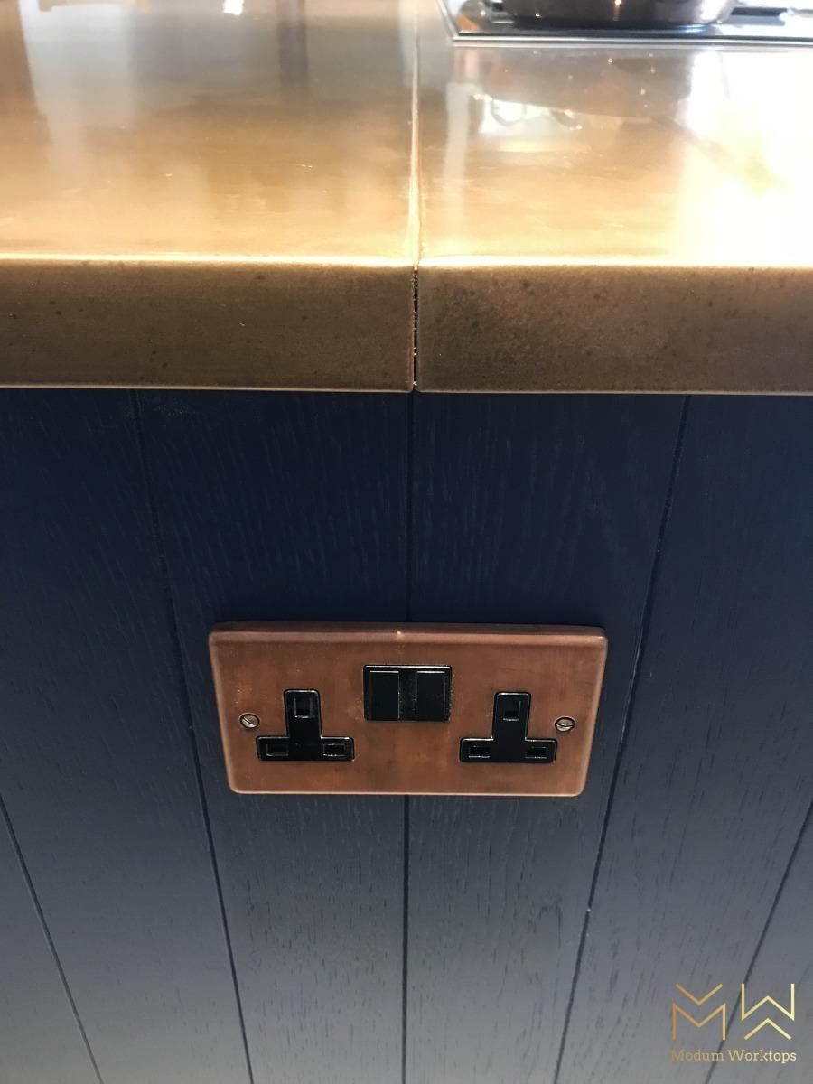 Double width copper joint