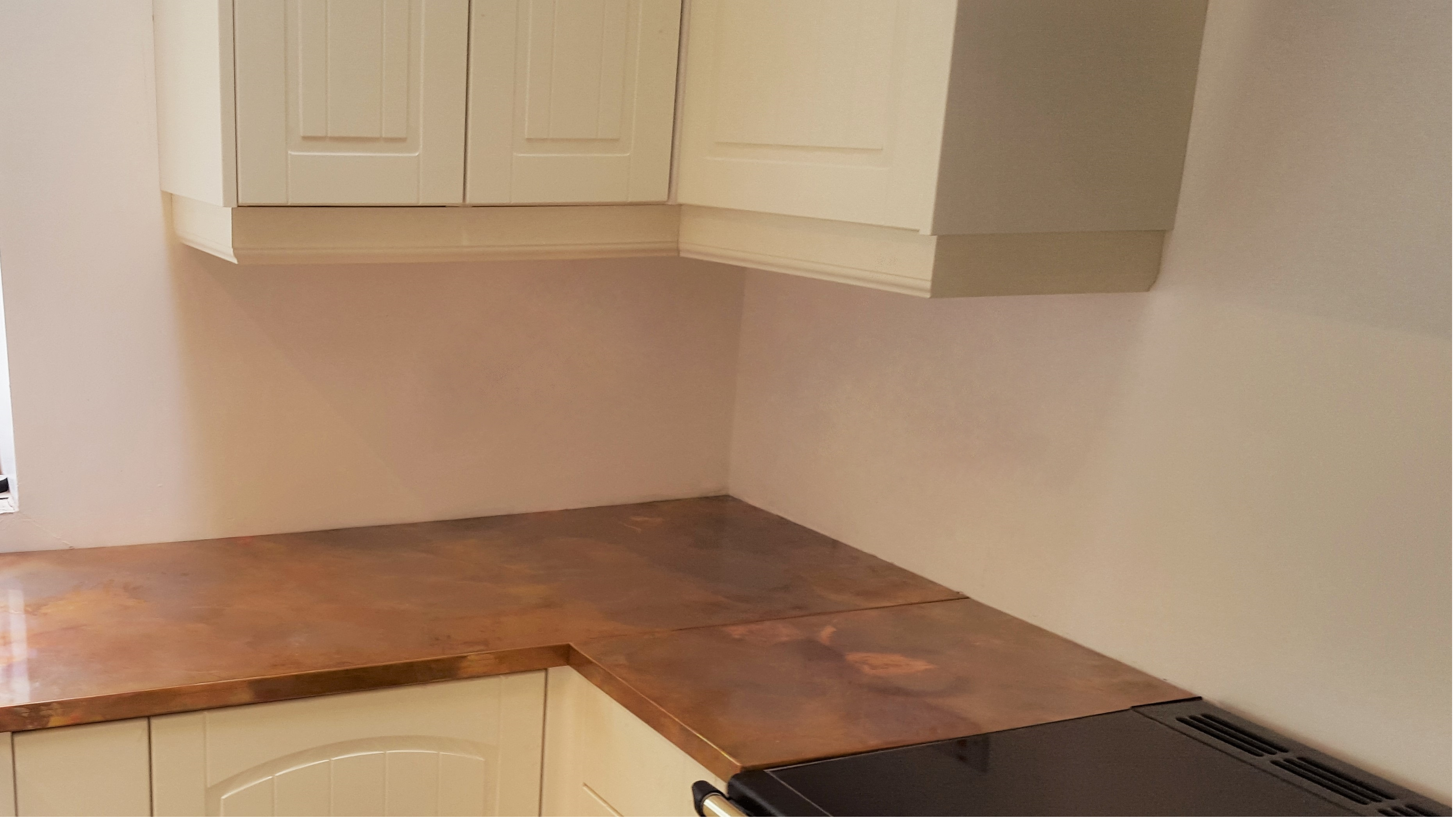 Copper worktops, counter top