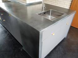 Custom zinc countertop