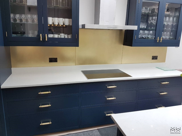 Brushed Brass splashback