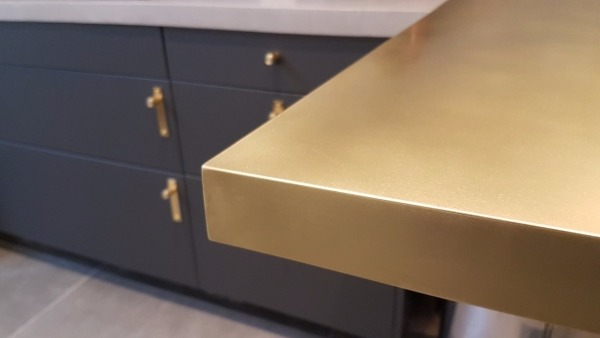 Brass counter top