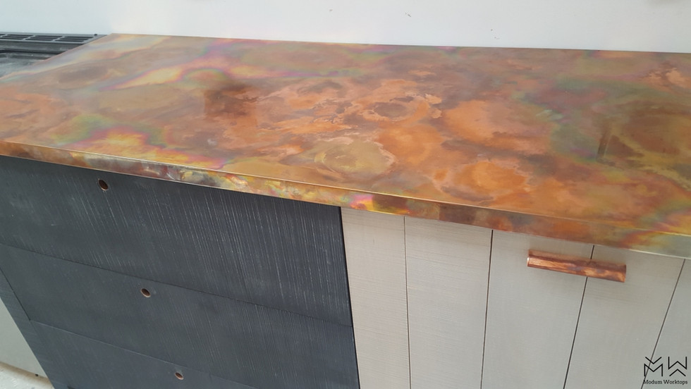 Burned patina on Copper