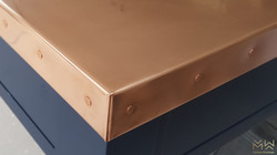Copper studded worktop