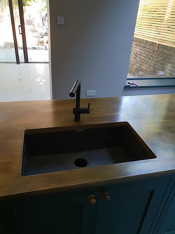 Brass with under-mounted sink