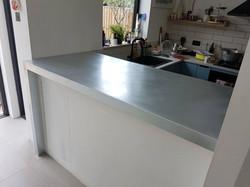 Zinc countertop - bar