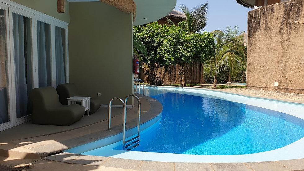 Ocean View Room With Swim Up Pool at Balafon Beach  Resort Per Week