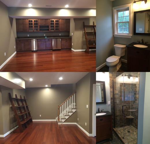 Finished Basement with Bath
