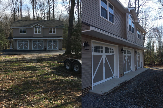 Three Car Garage with Upstairs Living Space