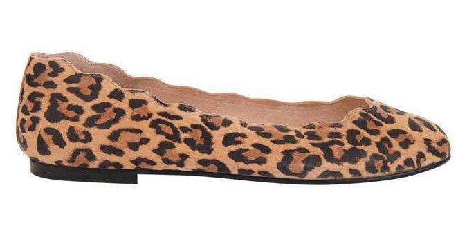 French Sole Leopard Jigsaw Flat