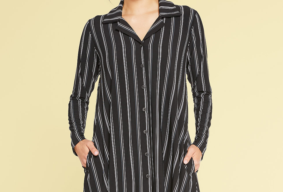 Sympli Stripe Go To Shirt