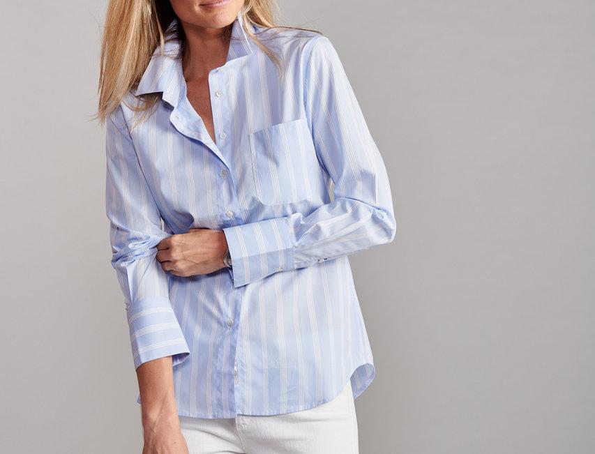Claridge & King Ivy Sky Stripe Shirt