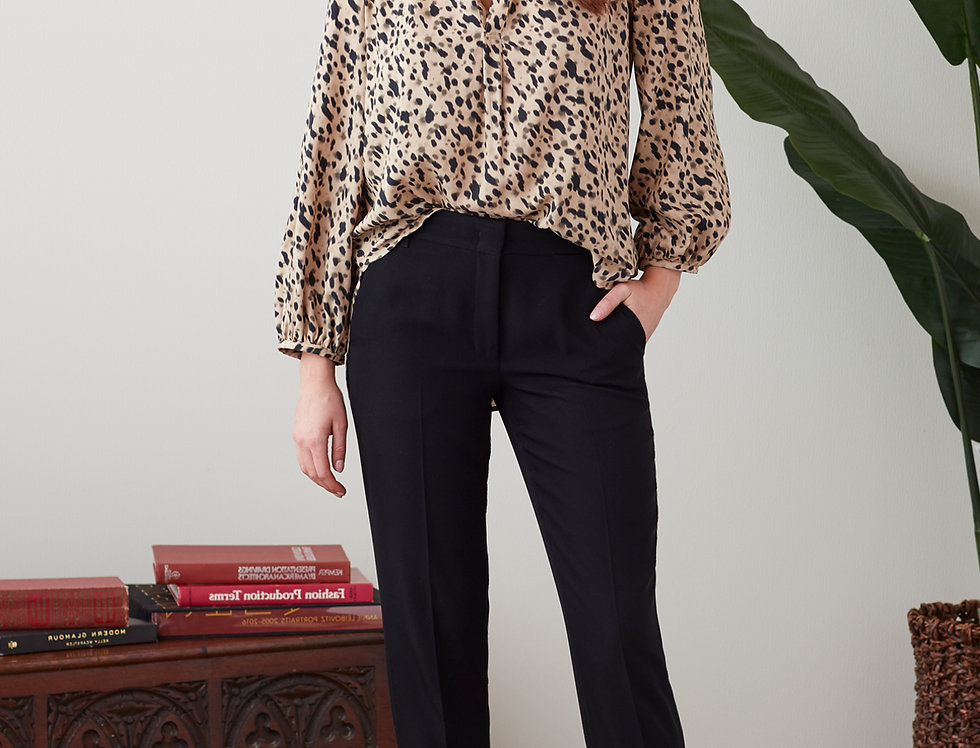 Finley Stephanie Leopard Print Top