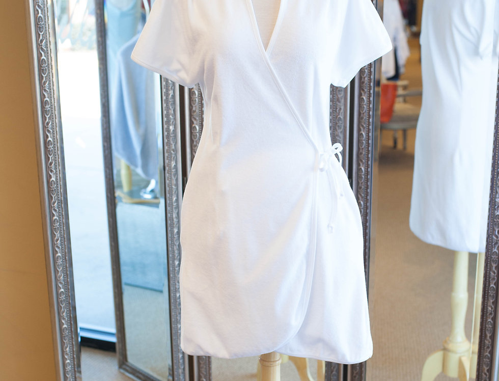 Cotn Terry Wrap Robe