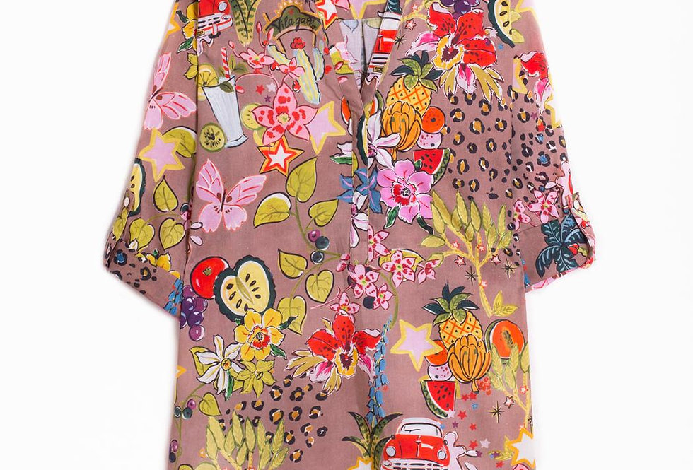 Vilagallo Summer Print Shirt