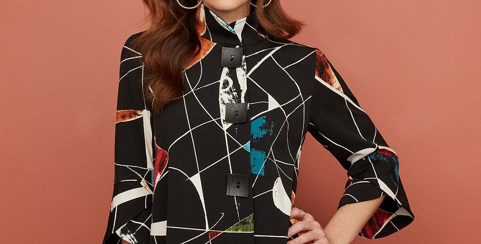 Joseph Ribkoff Abstract Jacket