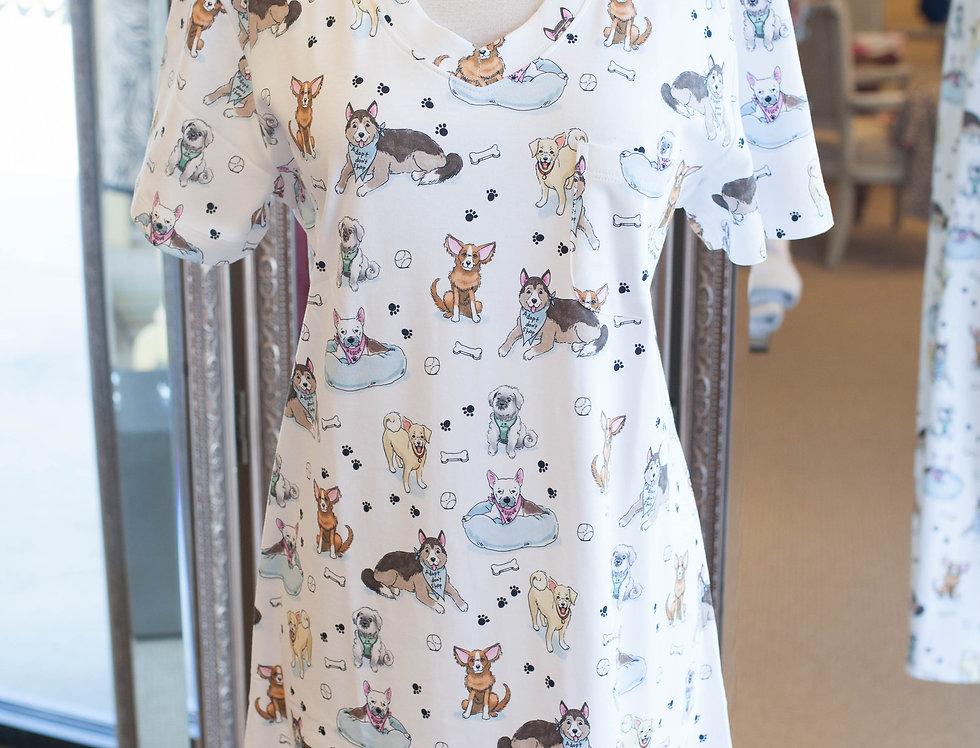 Cotn Rescue Dog Nightshirt