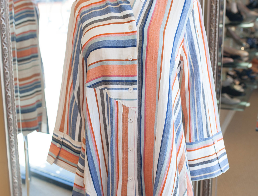 Boho Chic Stripe Shirt