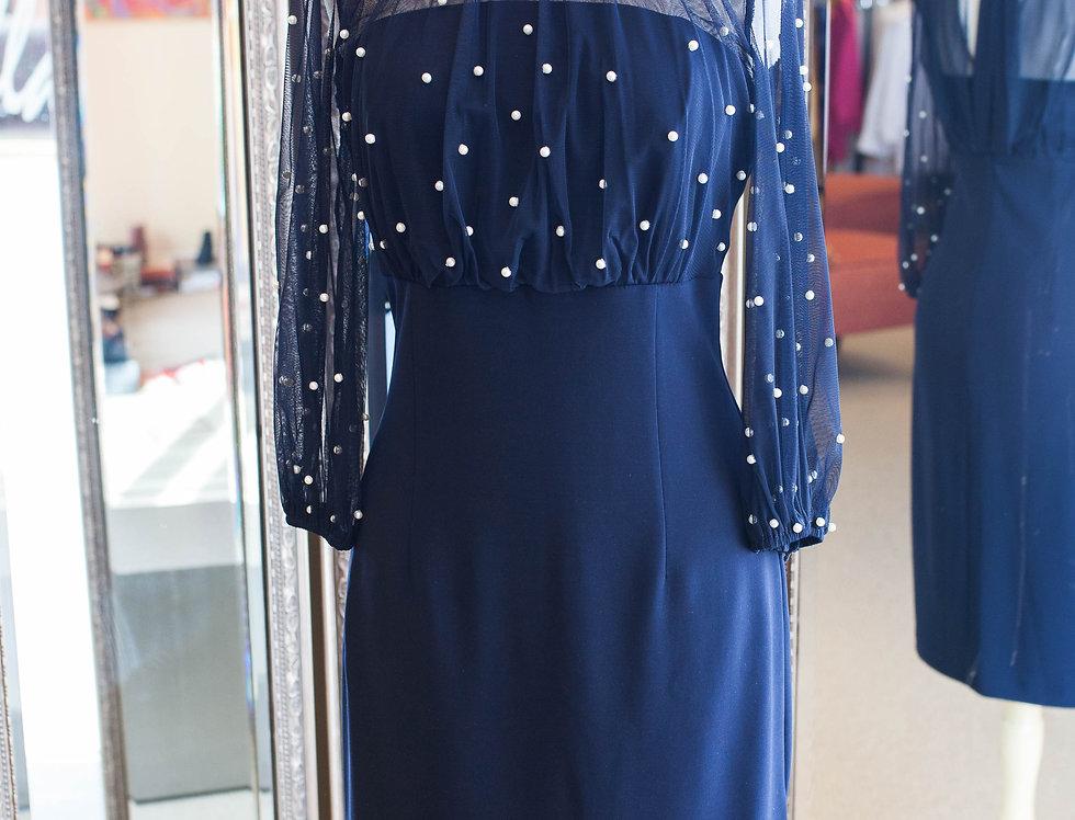 Joseph Ribkoff Navy Pearl Dress