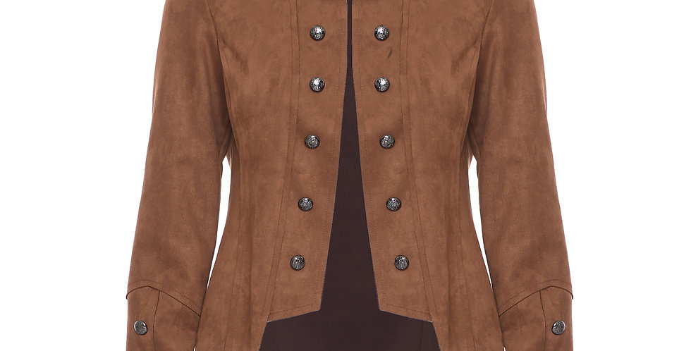 Joseph Ribkoff Military Faux Suede Jacket
